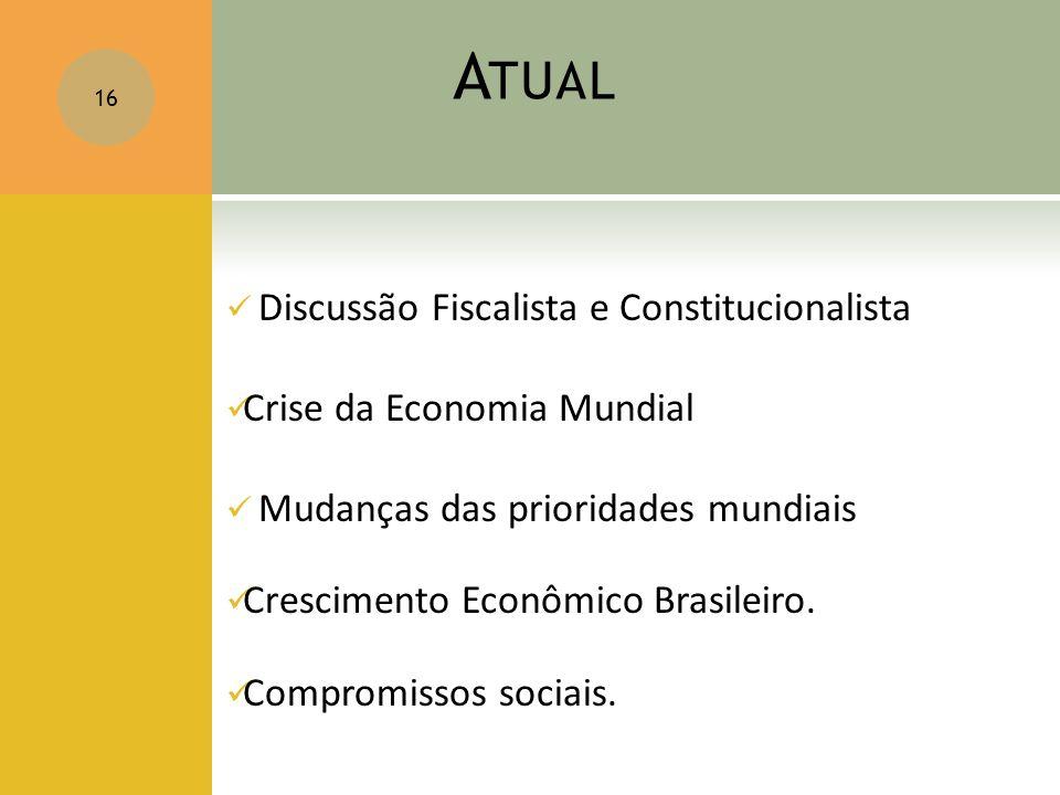 Atual Discussão Fiscalista e Constitucionalista