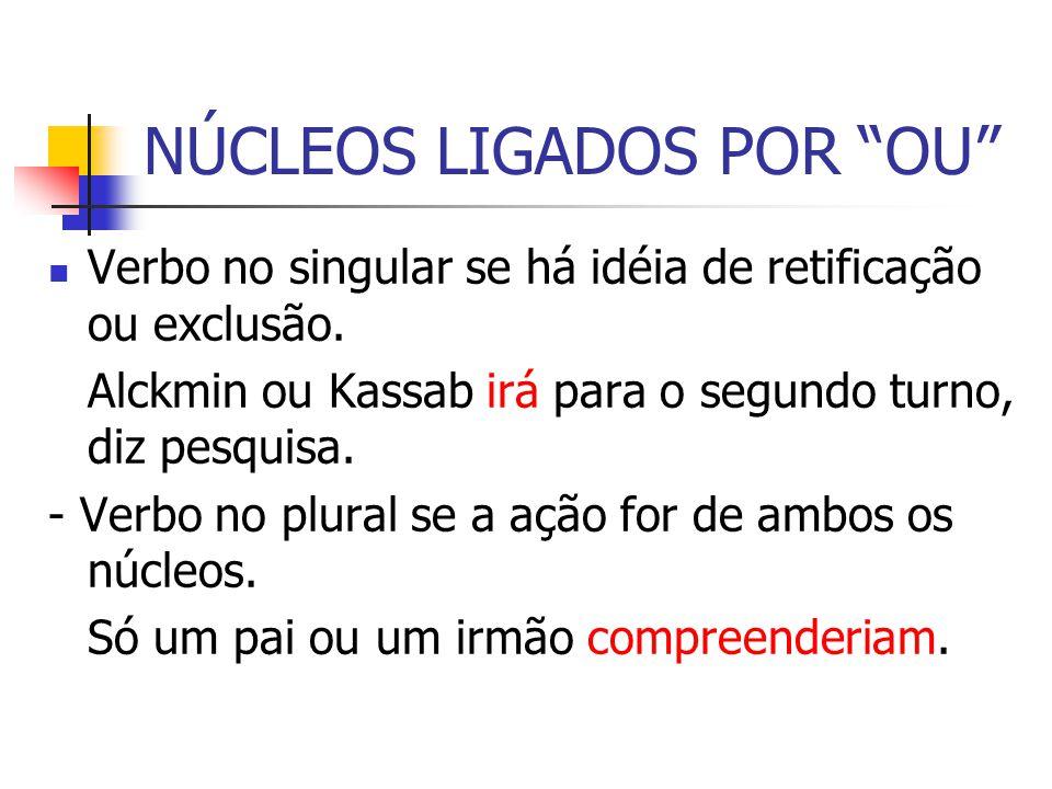 NÚCLEOS LIGADOS POR OU