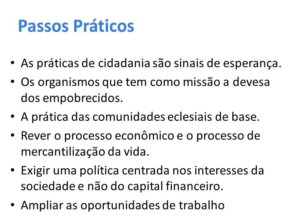 Passos Práticos As práticas de cidadania são sinais de esperança.