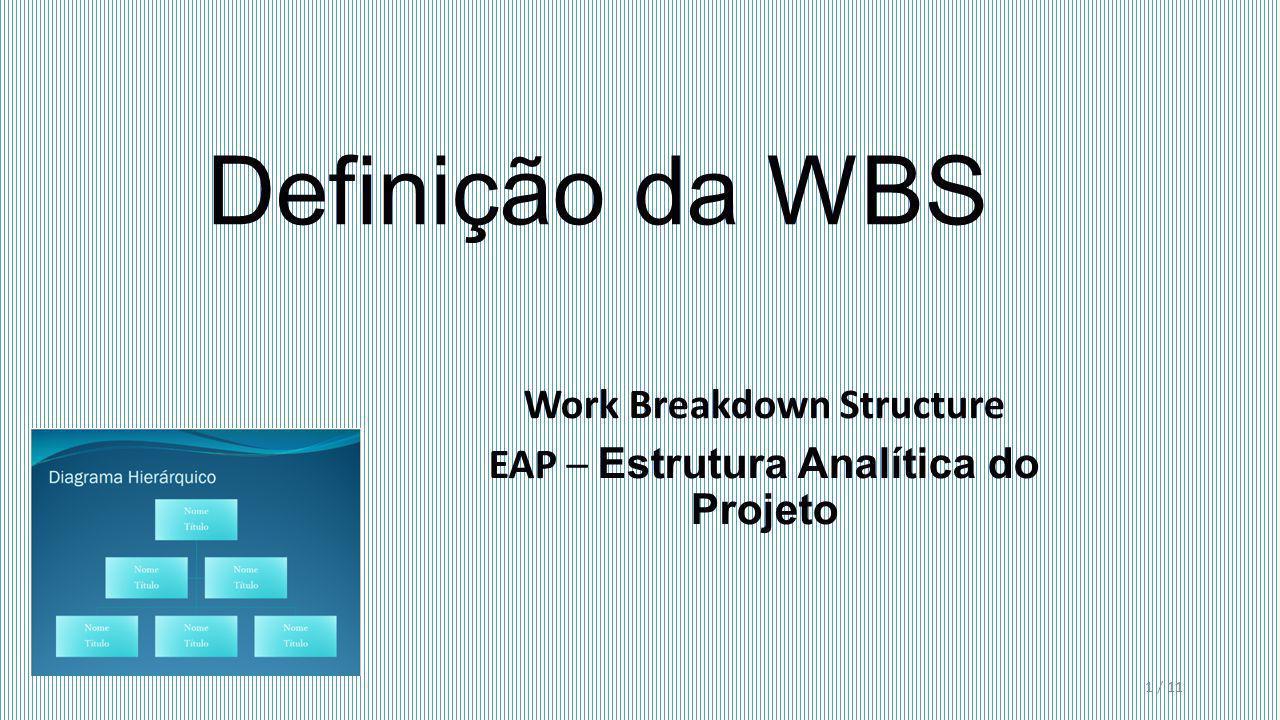 Work Breakdown Structure EAP – Estrutura Analítica do Projeto