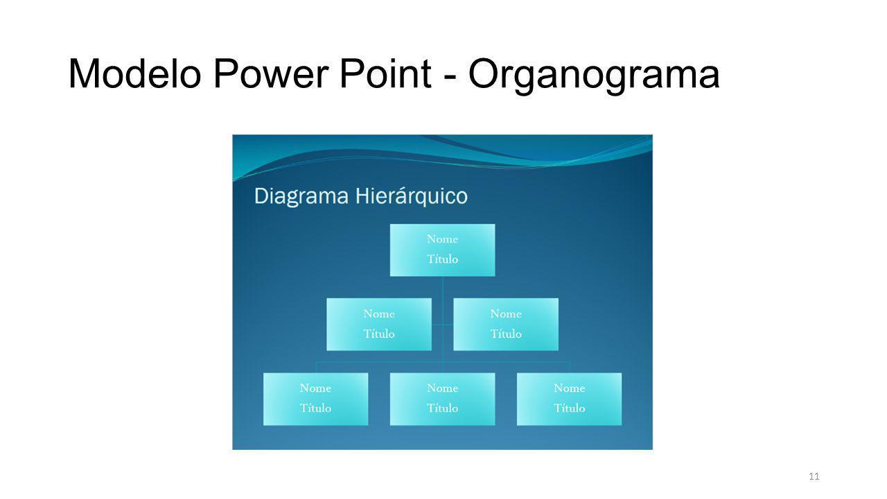 Modelo Power Point - Organograma