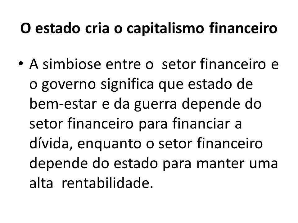 O estado cria o capitalismo financeiro