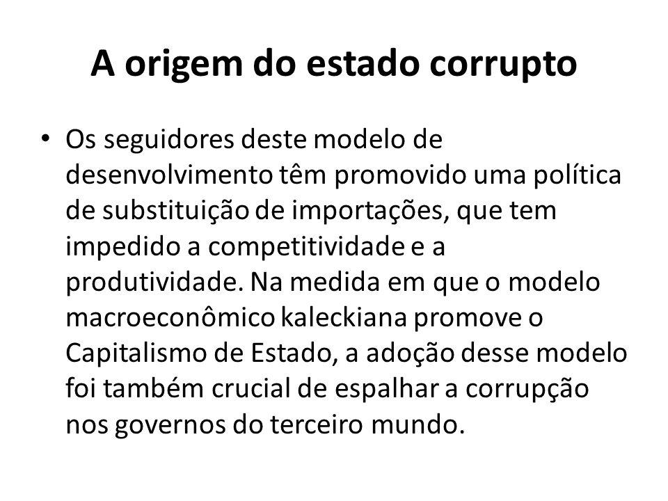 A origem do estado corrupto