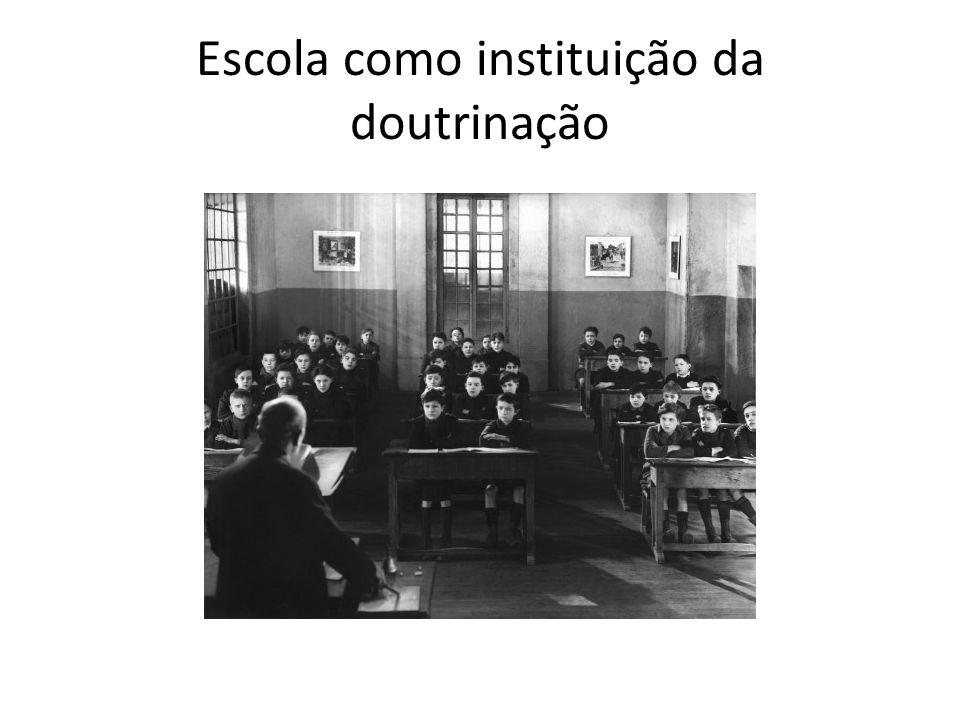 Escola como instituição da doutrinação