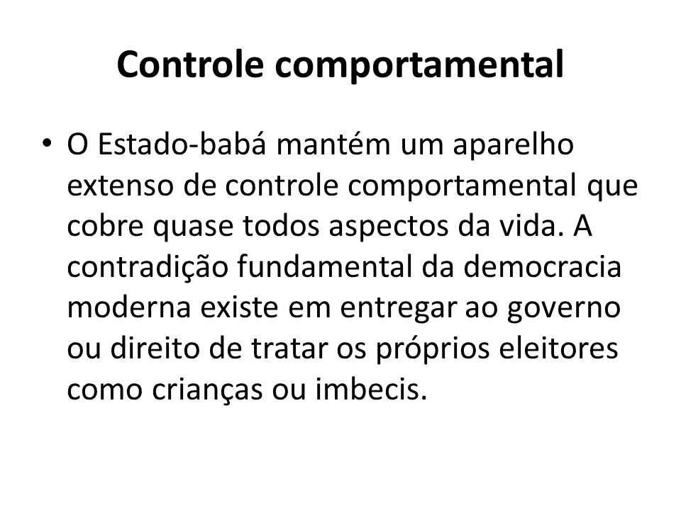 Controle comportamental
