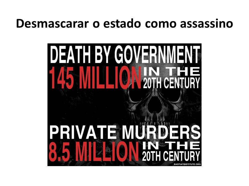 Desmascarar o estado como assassino