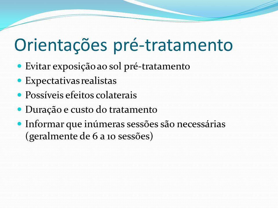 Orientações pré-tratamento