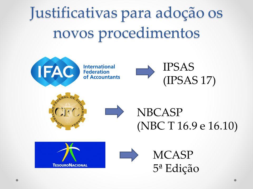 Justificativas para adoção os novos procedimentos