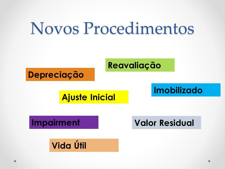 Novos Procedimentos Reavaliação Depreciação Imobilizado Ajuste Inicial