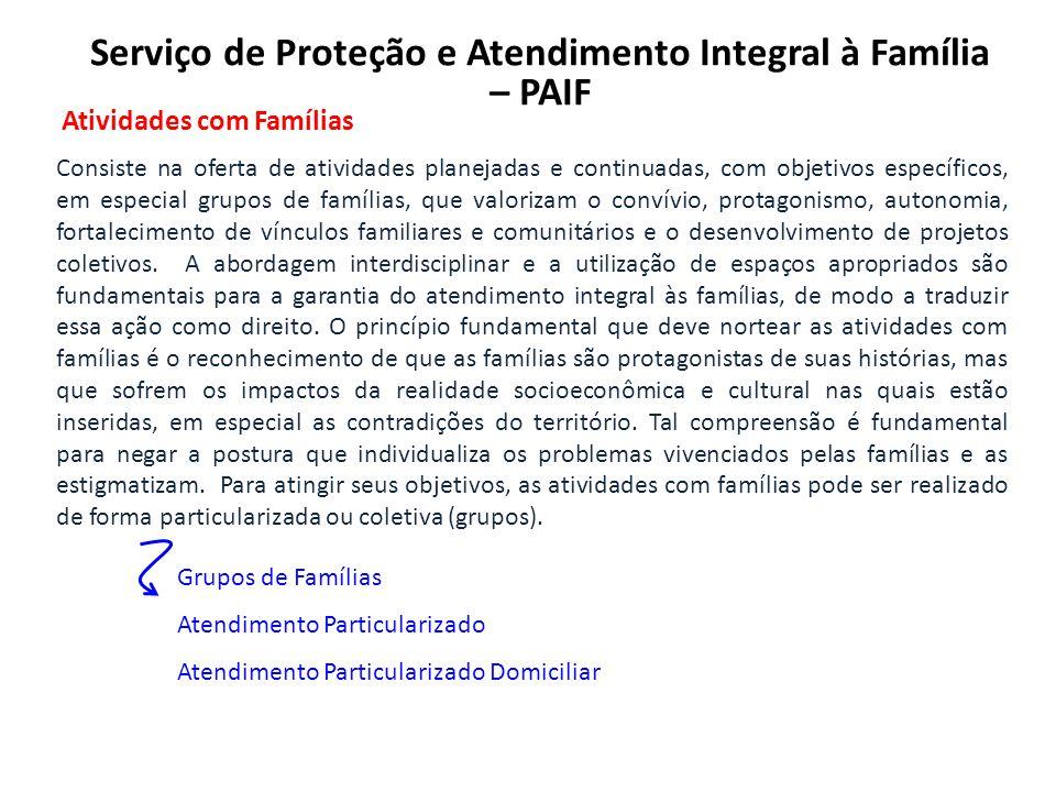 Serviço de Proteção e Atendimento Integral à Família – PAIF