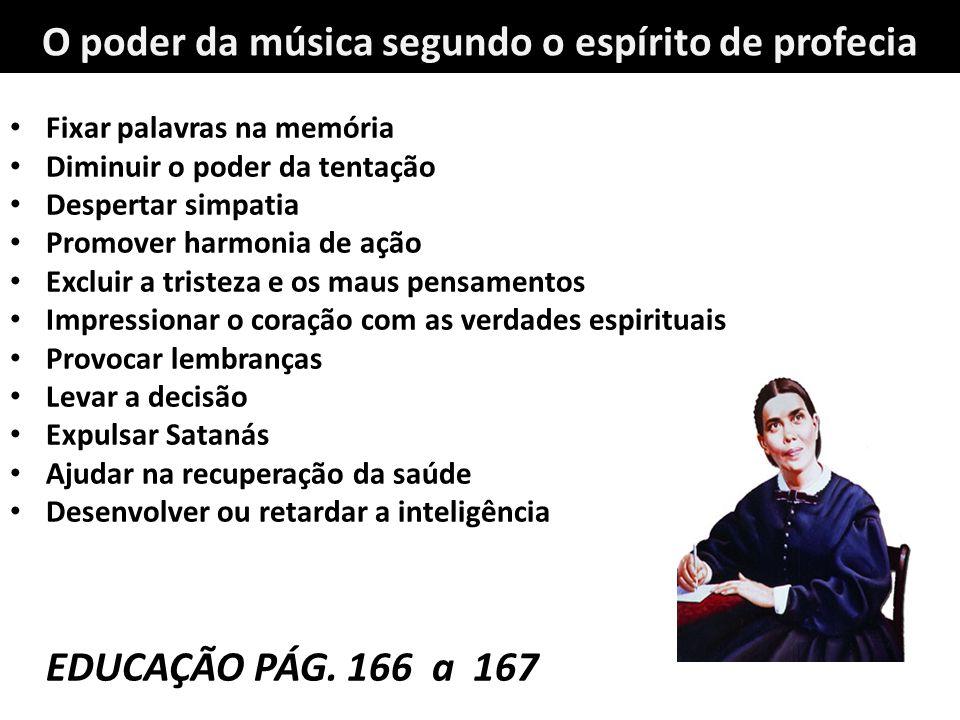 O poder da música segundo o espírito de profecia