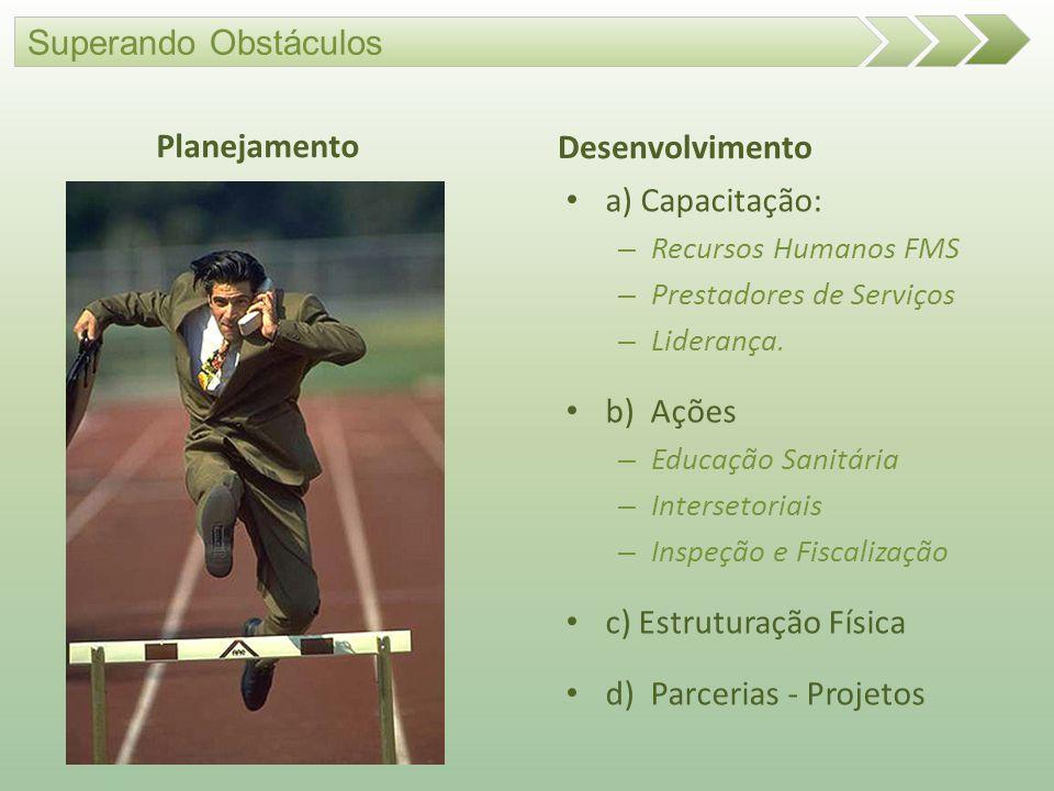 c) Estruturação Física d) Parcerias - Projetos