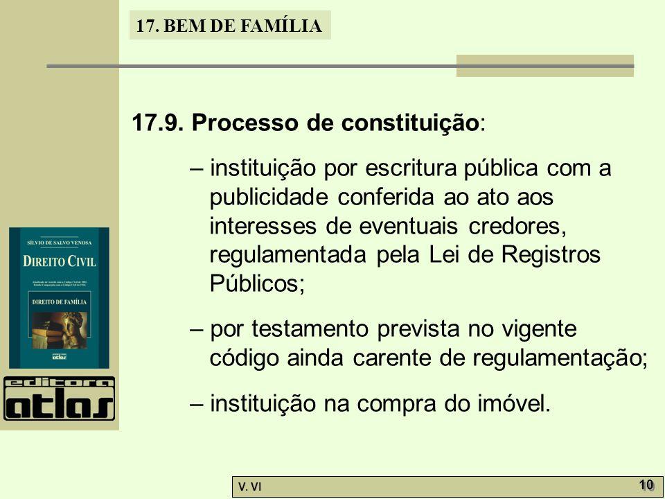 17.9. Processo de constituição: