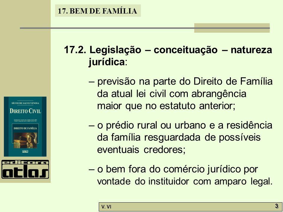 17.2. Legislação – conceituação – natureza jurídica: