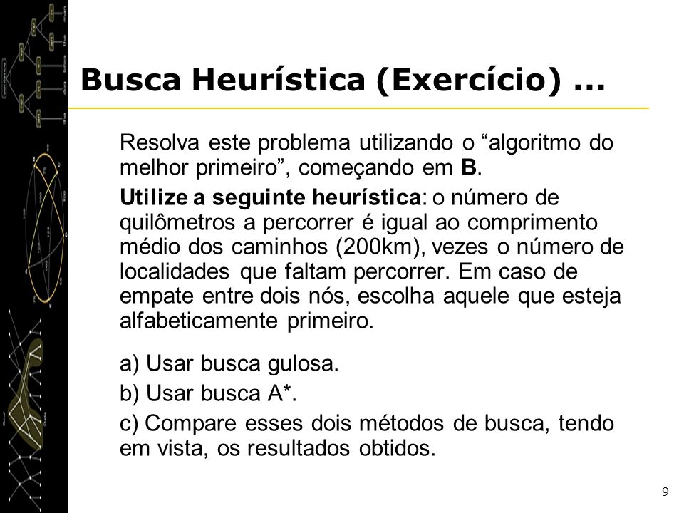 Busca Heurística (Exercício) ...