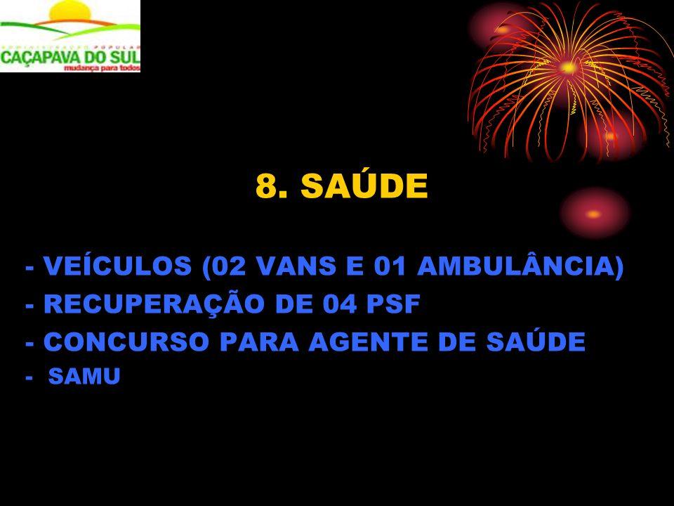 - VEÍCULOS (02 VANS E 01 AMBULÂNCIA) - RECUPERAÇÃO DE 04 PSF