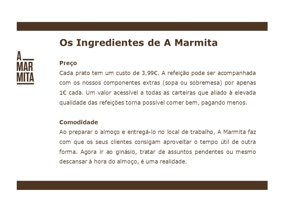 Os Ingredientes de A Marmita