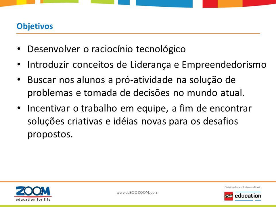 Objetivos Desenvolver o raciocínio tecnológico