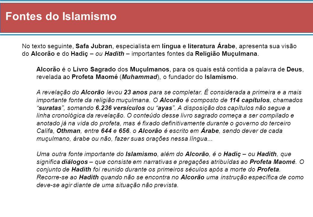 Fontes do Islamismo