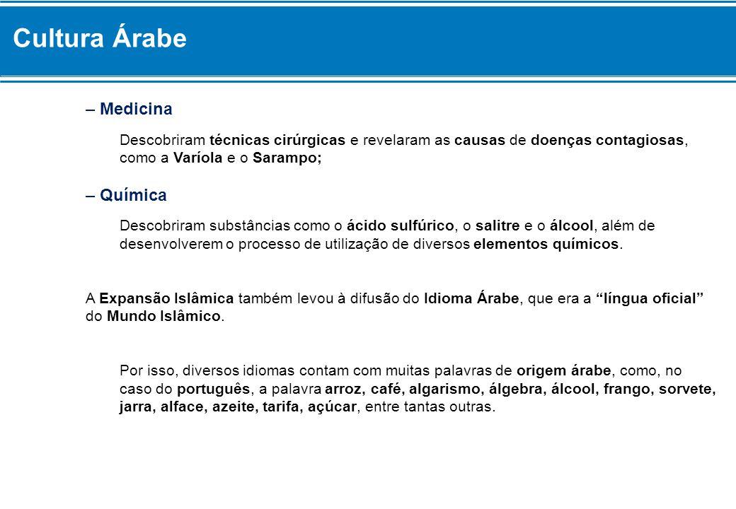 Cultura Árabe – Medicina – Química