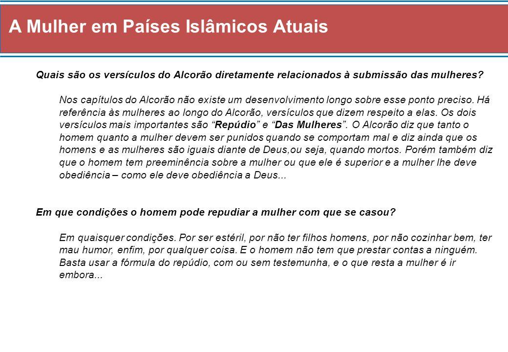 A Mulher em Países Islâmicos Atuais