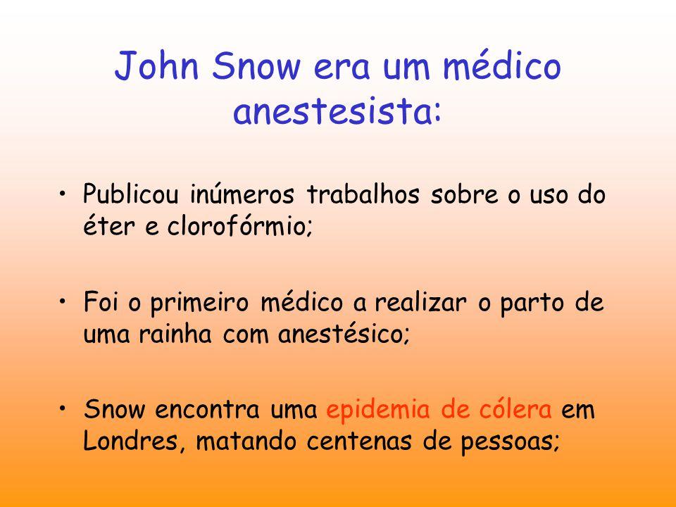 John Snow era um médico anestesista: