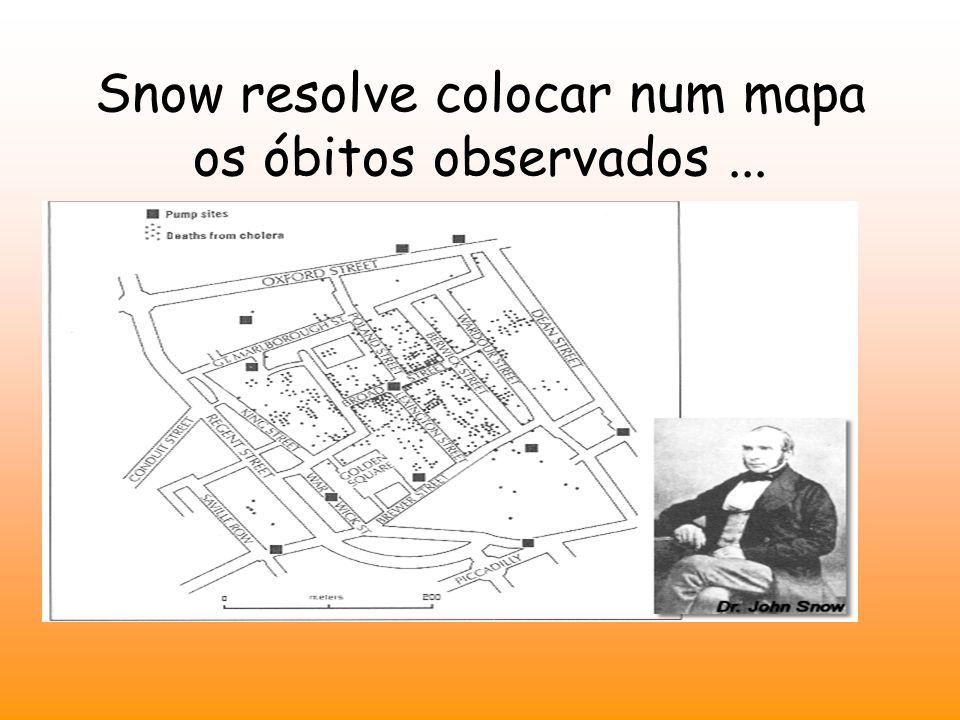 Snow resolve colocar num mapa os óbitos observados ...