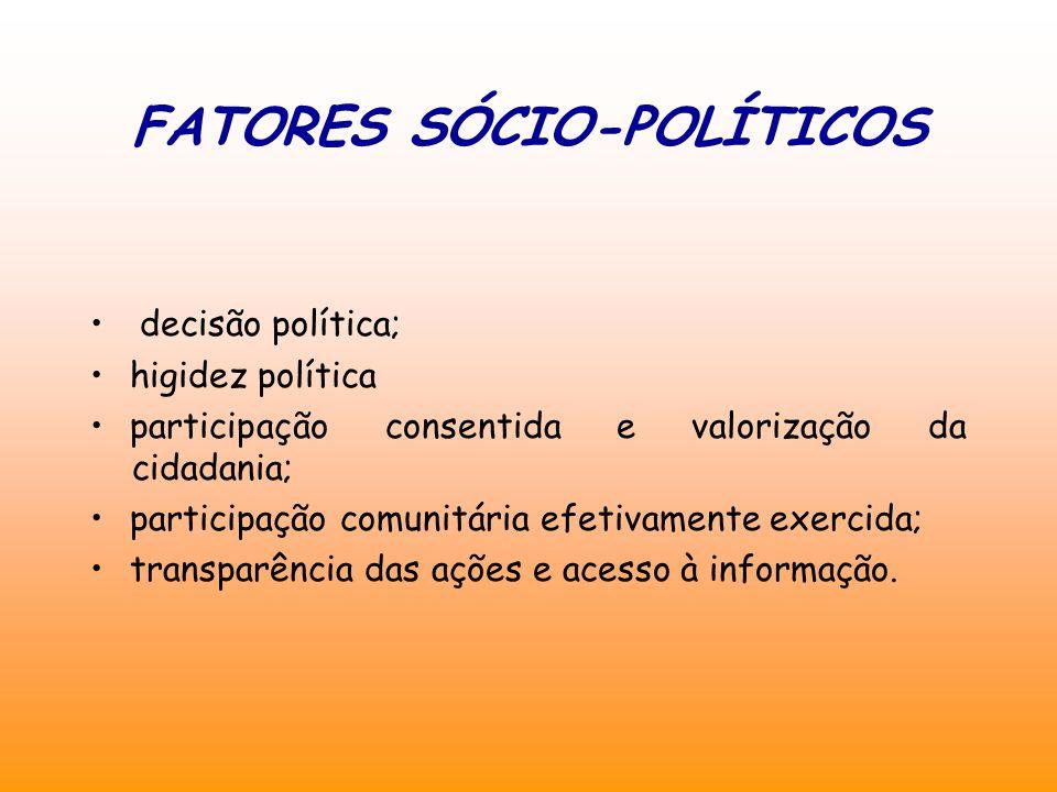 FATORES SÓCIO-POLÍTICOS