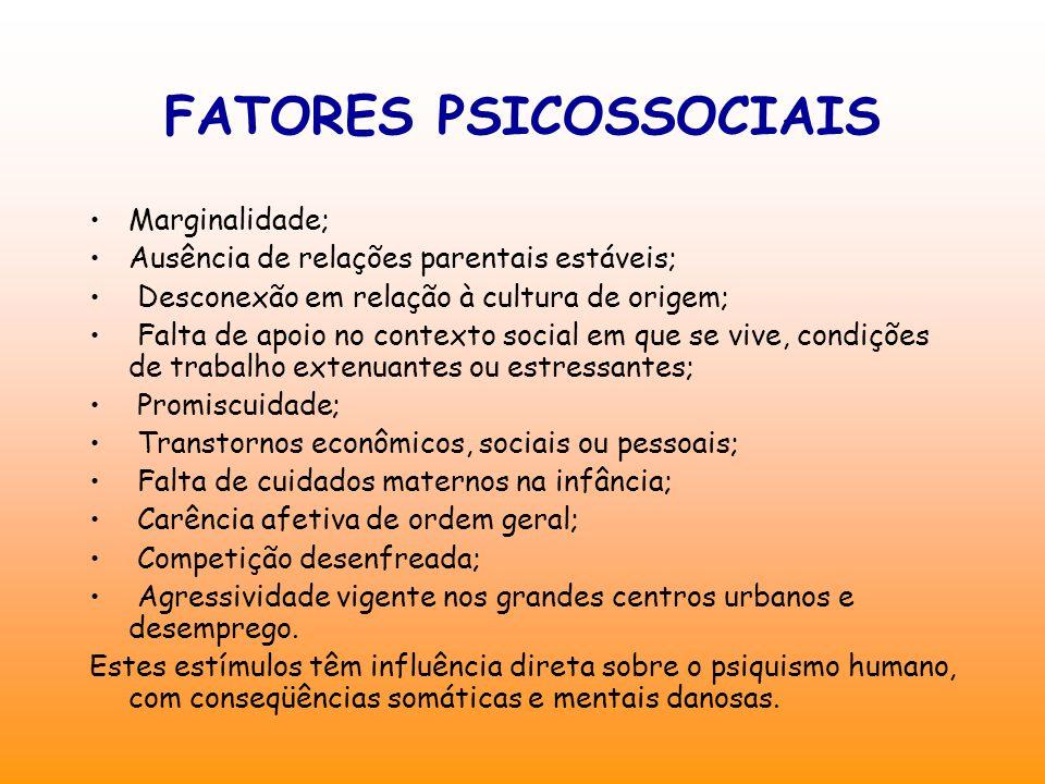 FATORES PSICOSSOCIAIS