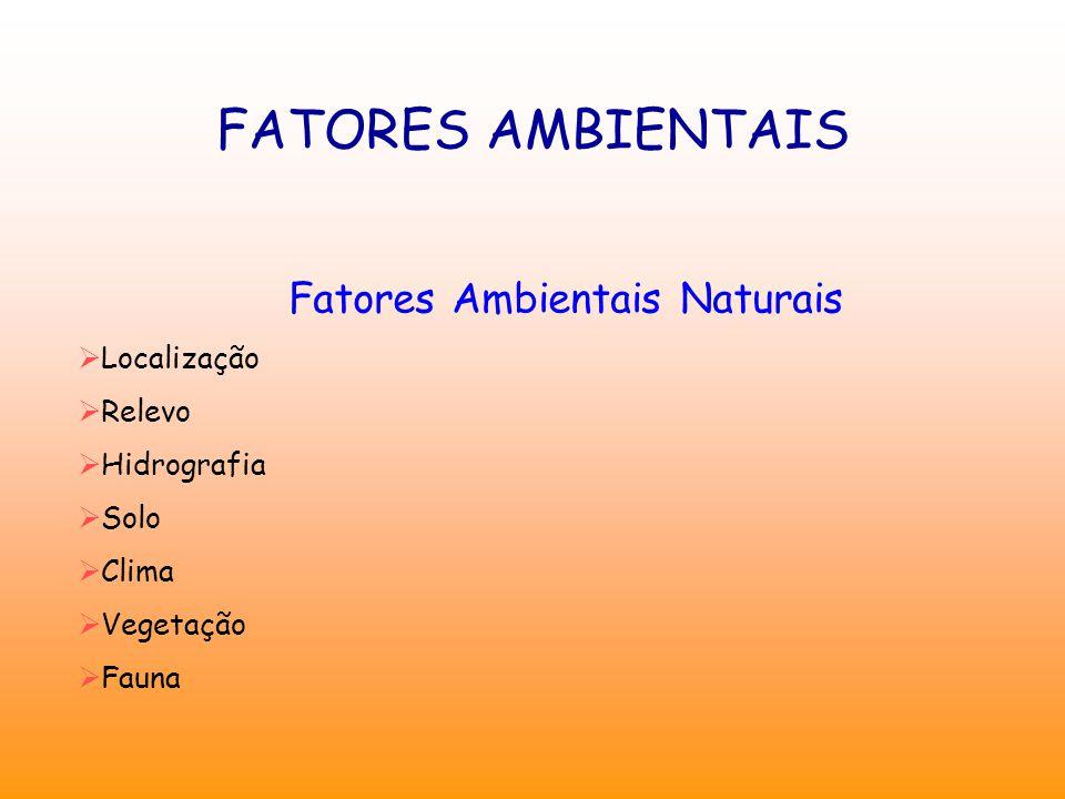 Fatores Ambientais Naturais