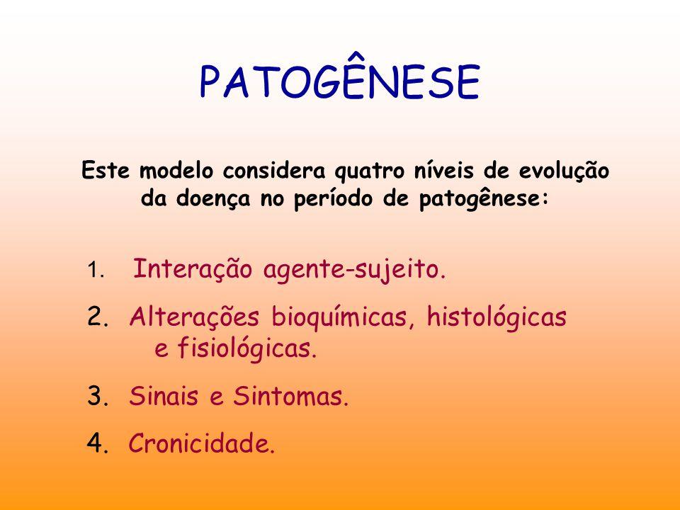 PATOGÊNESE Alterações bioquímicas, histológicas e fisiológicas.