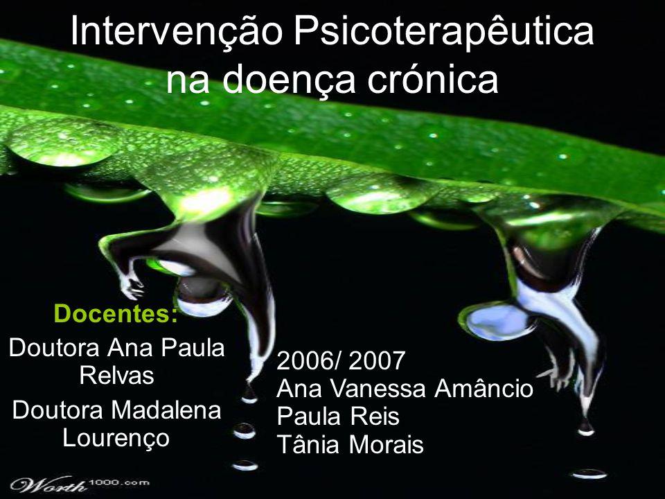 Intervenção Psicoterapêutica na doença crónica