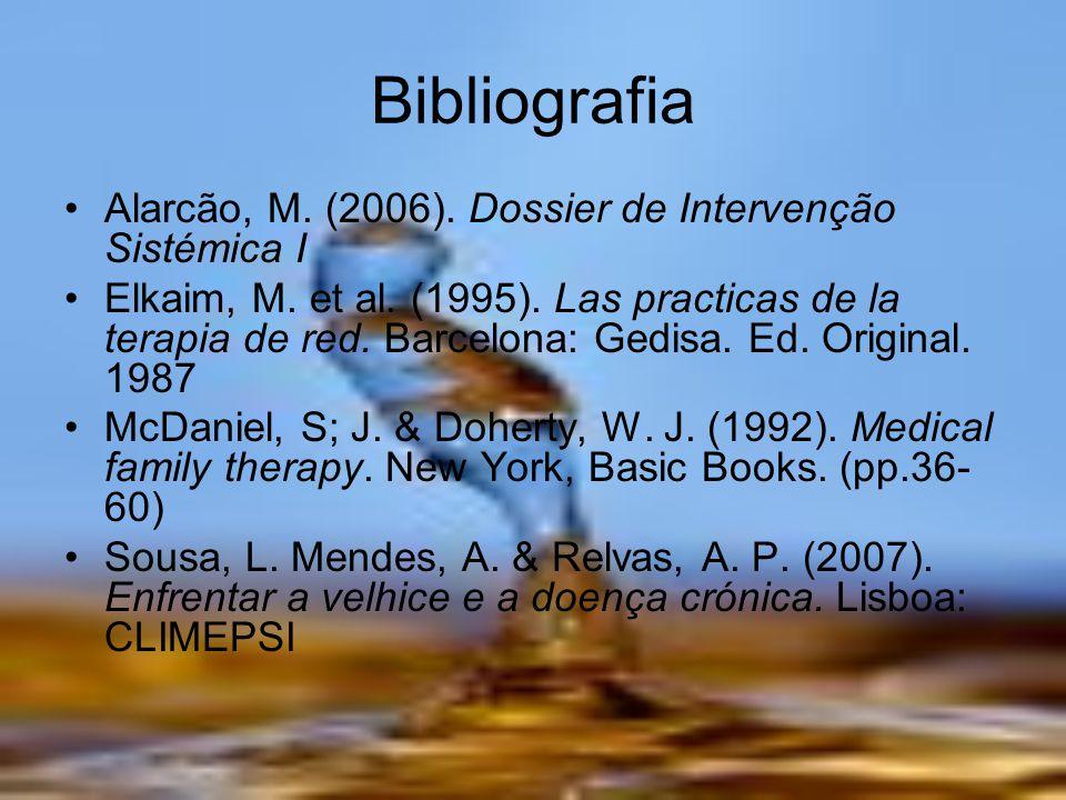 Bibliografia Alarcão, M. (2006). Dossier de Intervenção Sistémica I