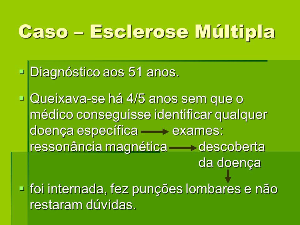 Caso – Esclerose Múltipla