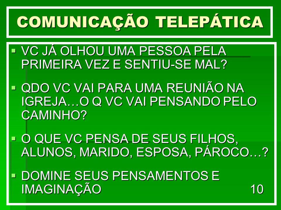 COMUNICAÇÃO TELEPÁTICA