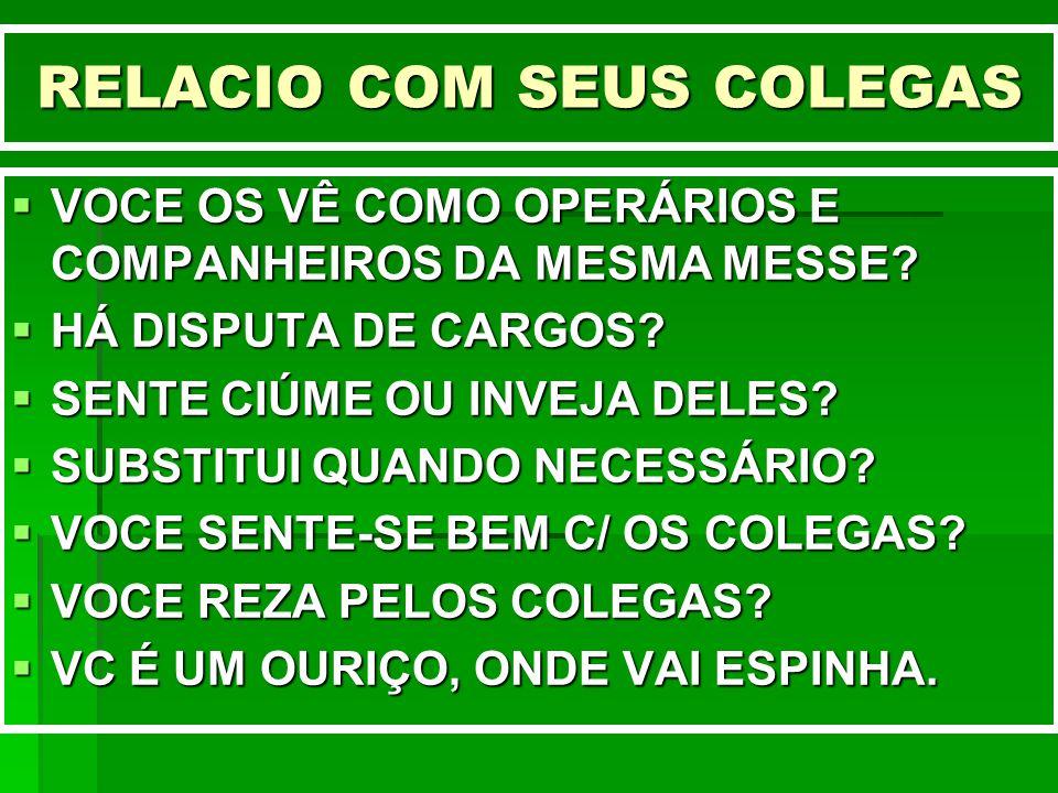RELACIO COM SEUS COLEGAS