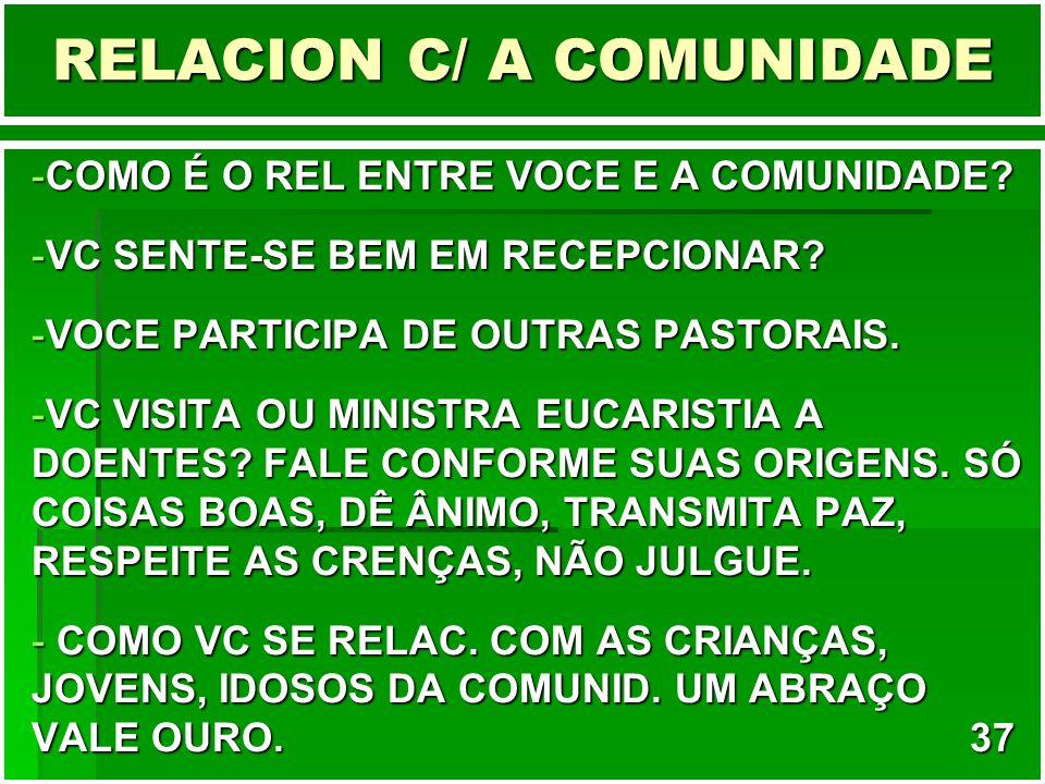 RELACION C/ A COMUNIDADE