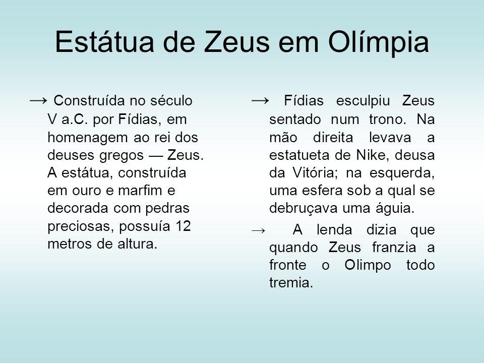 Estátua de Zeus em Olímpia