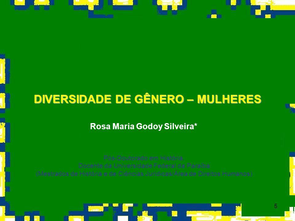 DIVERSIDADE DE GÊNERO – MULHERES