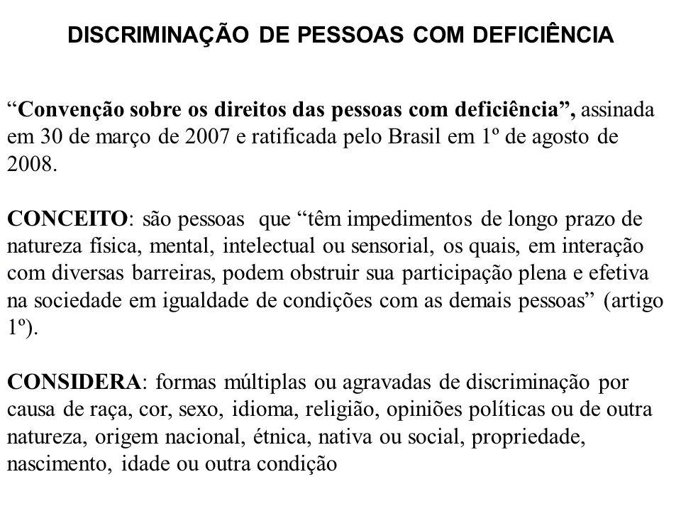 DISCRIMINAÇÃO DE PESSOAS COM DEFICIÊNCIA