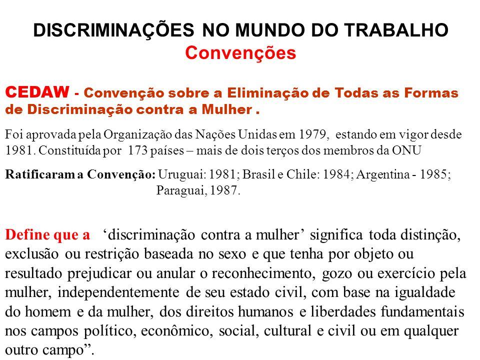DISCRIMINAÇÕES NO MUNDO DO TRABALHO
