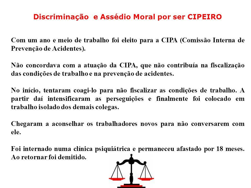 Discriminação e Assédio Moral por ser CIPEIRO
