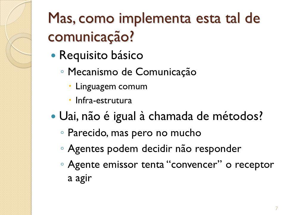 Mas, como implementa esta tal de comunicação