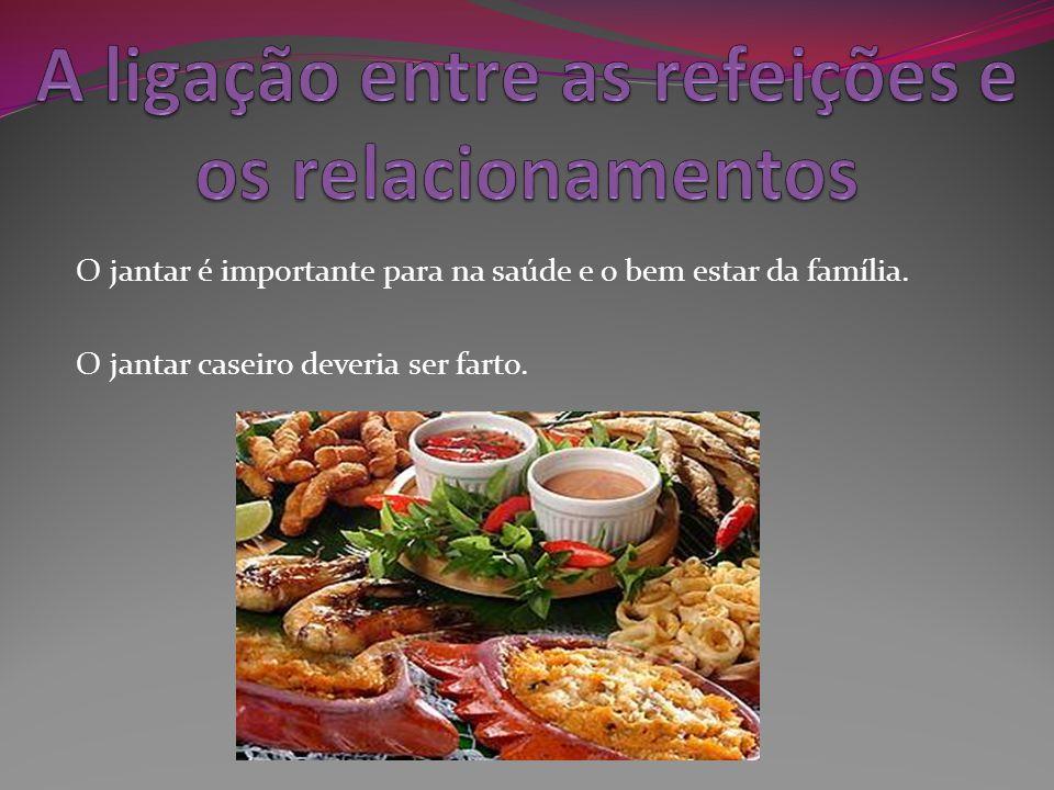 A ligação entre as refeições e os relacionamentos