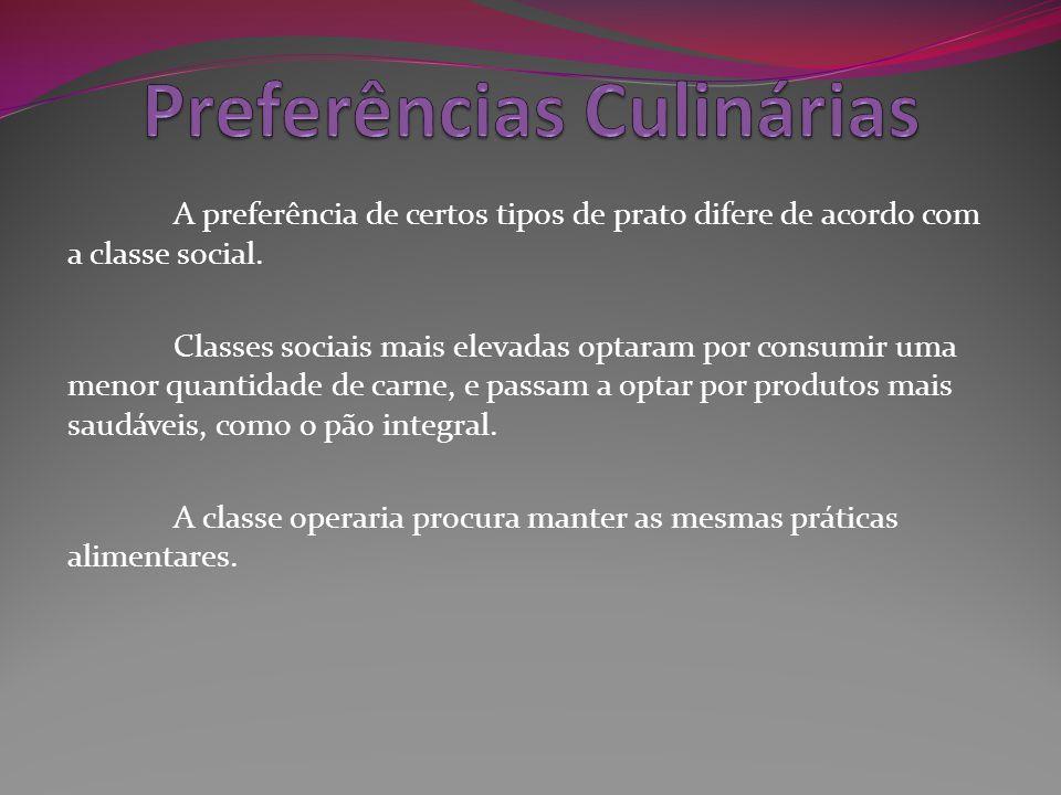 Preferências Culinárias