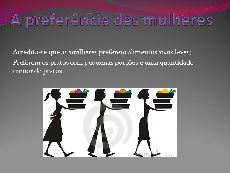 A preferência das mulheres