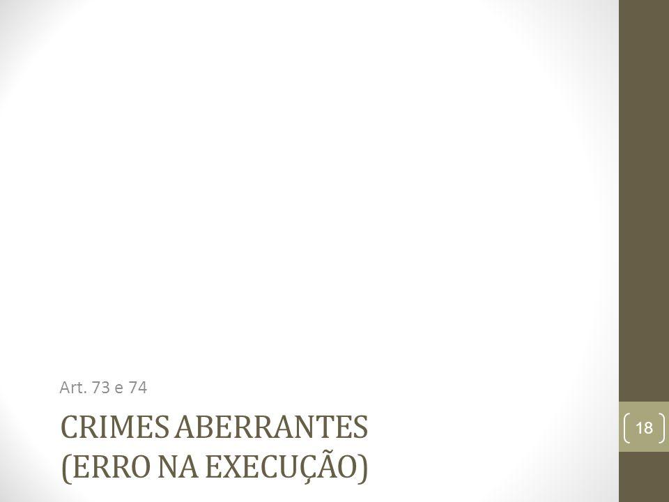 Crimes aberrantes (erro na execução)