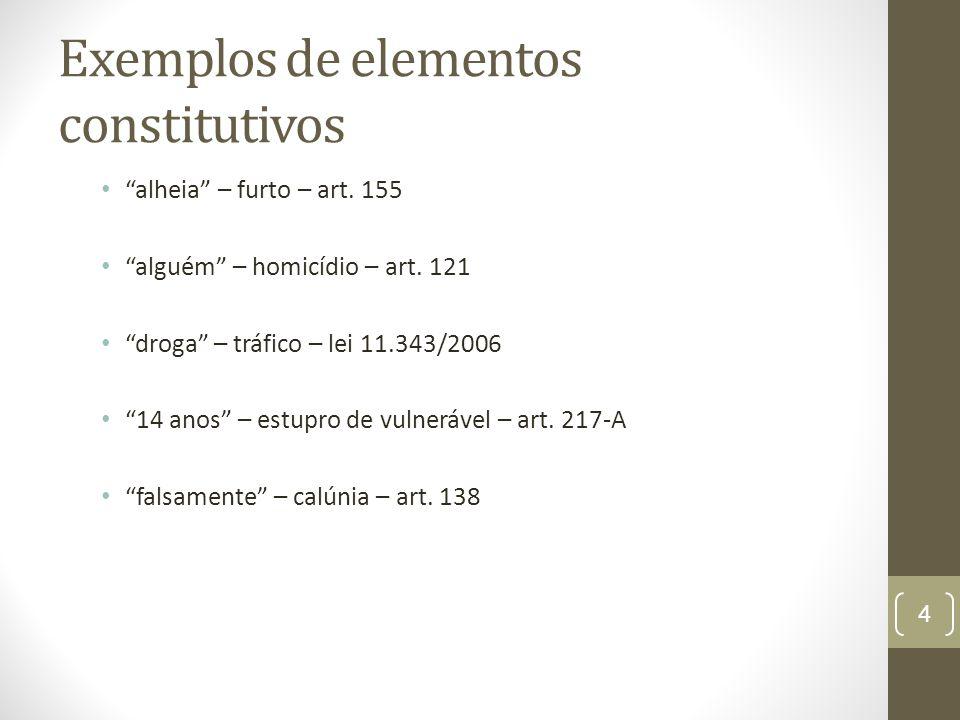 Exemplos de elementos constitutivos