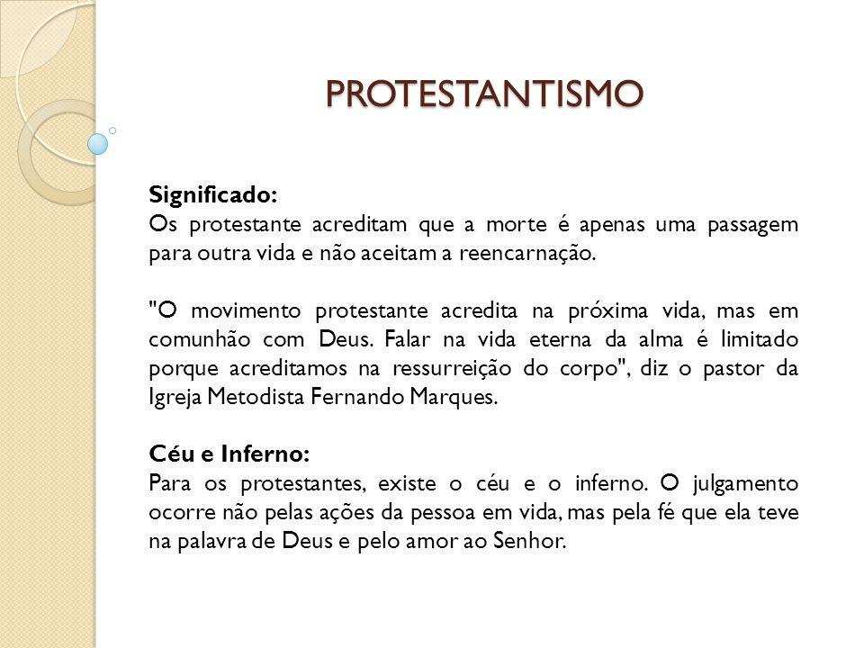 PROTESTANTISMO Significado: