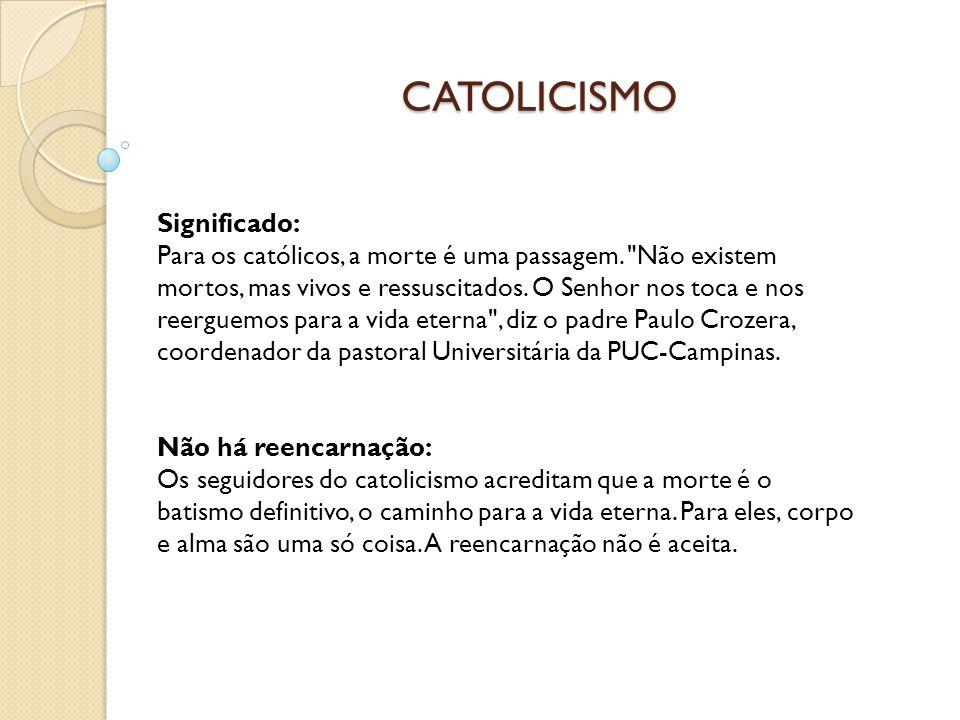 CATOLICISMO Significado: